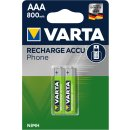 Varta 2er Pack Phone Power T398 AAA Micro 800 mAh für...
